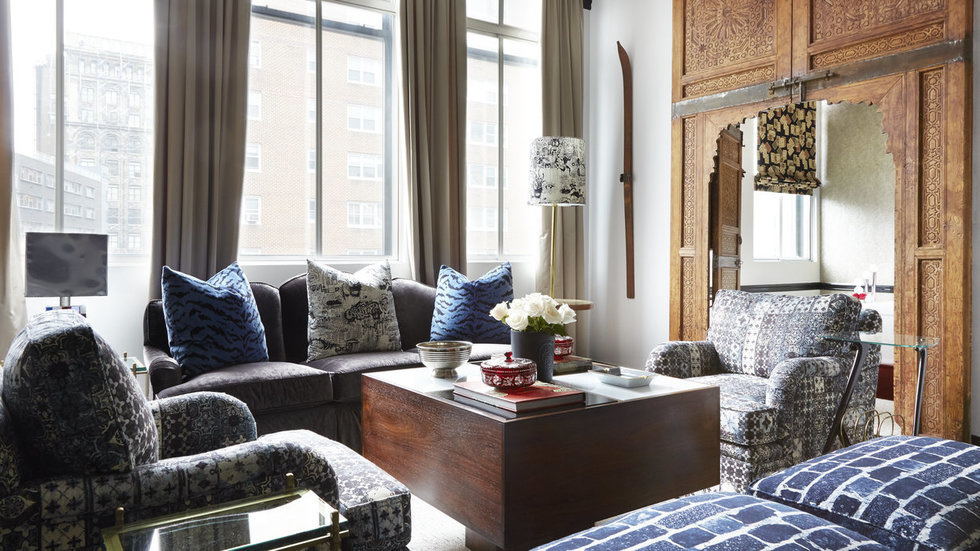 Scalamandré Style Reigns Supreme in this NYC Bachelor Pad